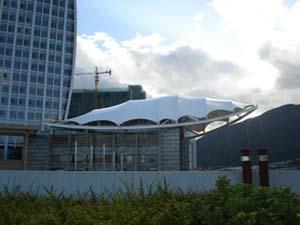 大理海湾国际酒店裙楼顶膜结构