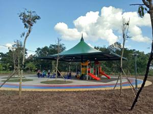 中科院西双版纳热带植物园儿童游乐场张拉膜