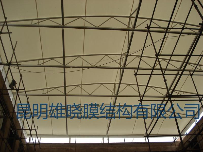 玉溪鸿源饭店(银星俱乐部)屋顶遮阳膜结构工程