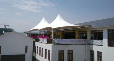 开远聚满源餐厅楼顶遮阳膜结构工程