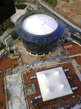 滇池柏悦采光顶-穹顶膜结构工程