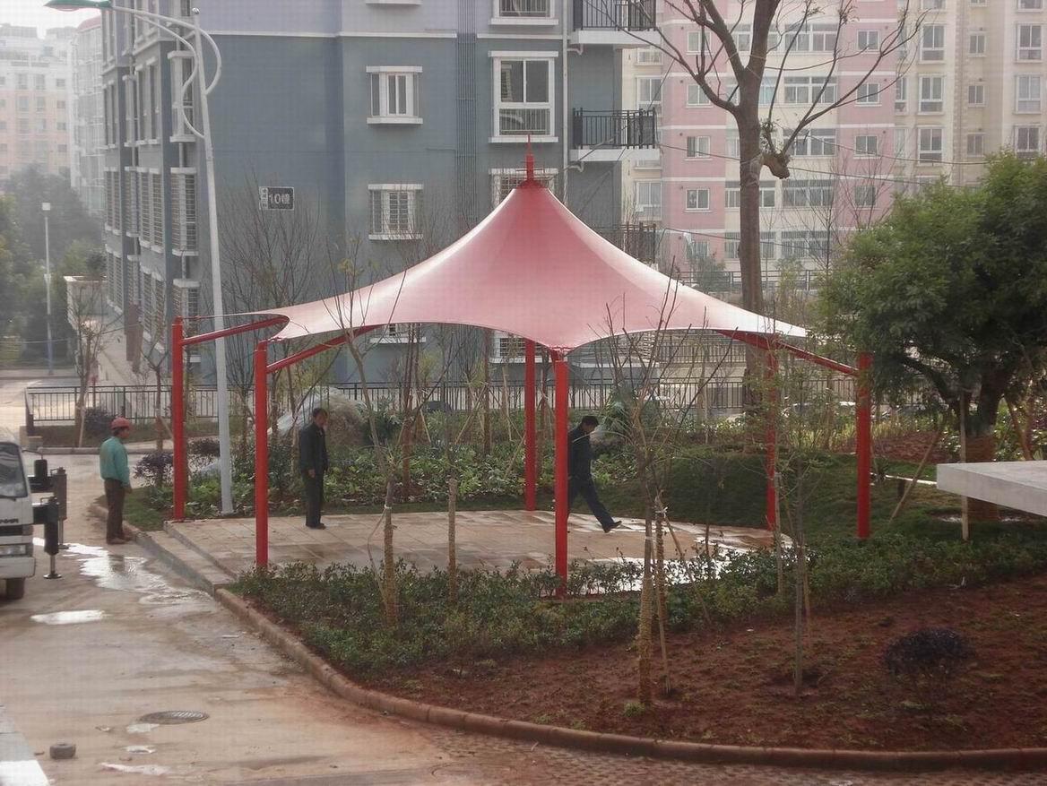 昆钢凌波三期景观绿化工程膜结构