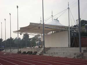 西双版纳州景洪市允景洪中学运动场主席台膜结构