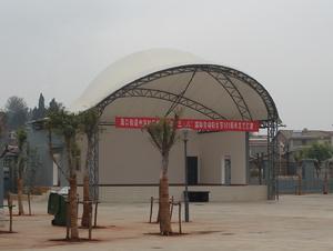 白塔村戏台膜结构工程